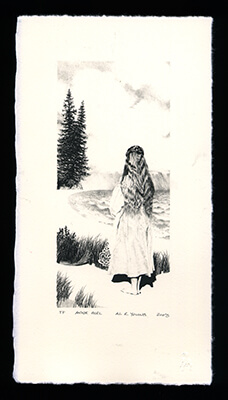 Anne Girl - Limited Edition Lithography Print by Al Young
