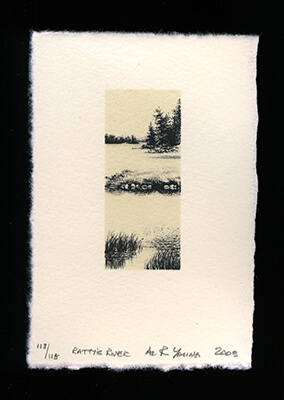 Ratty's River - Limited Edition Lithography Print by Al Young