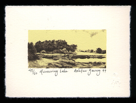 Murmuring Lake - Limited Edition Lithography Print by Ashton Young