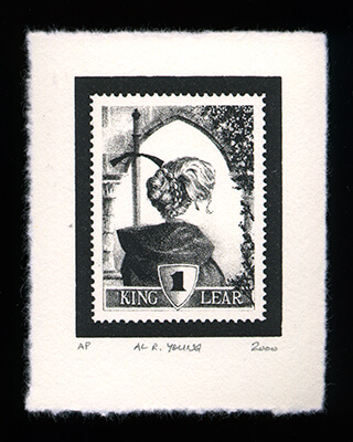 William Shakespeare 1 - Limited Edition Lithography Print by Al Young