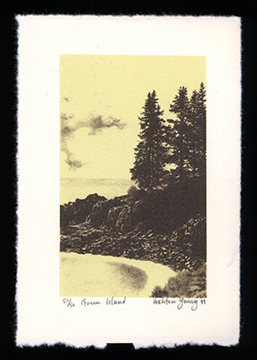 Green Island - Limited Edition Lithography Print by Ashton Young