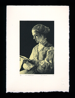 By Candlelight - Limited Edition Lithography Print by Al Young