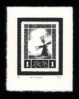 Miguel de Cervantes 1 - Limited Edition Lithography Print by Al Young