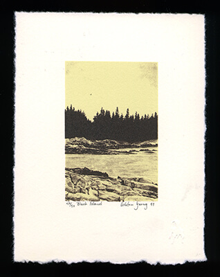 Black Island - Limited Edition Lithography Print by Ashton Young