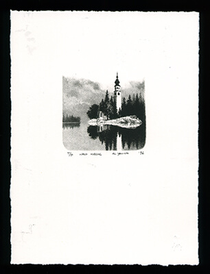 Wald Kirche - Limited Edition Lithography Print by Al Young