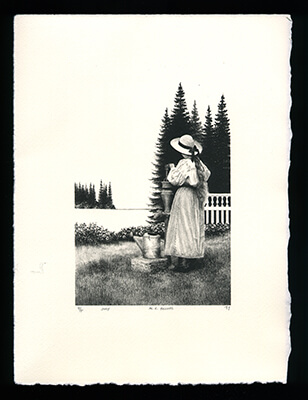 July - Limited Edition Lithography Print by Al Young