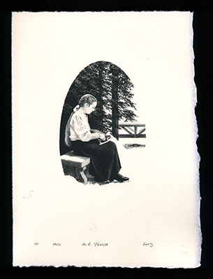 Tacy - Limited Edition Lithography Print by Al Young