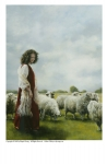 With Her Father's Sheep - 5 x 7 print