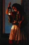 A Damsel Came To Hearken - 11 x 17 giclée on canvas (pre-mounted)