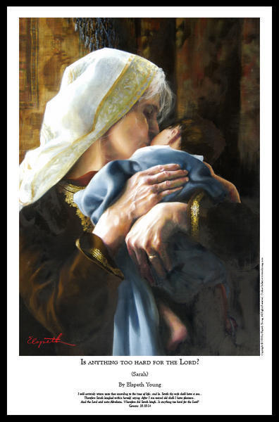Is Anything Too Hard For The Lord - 11 x 17 print by Elspeth Young