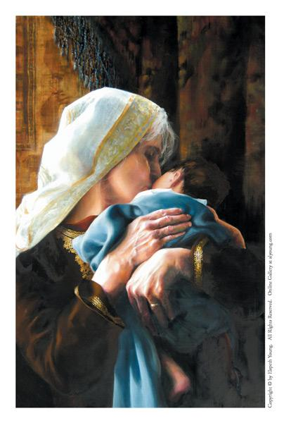 Is Anything Too Hard For The Lord - 4 x 6.25 print by Elspeth Young