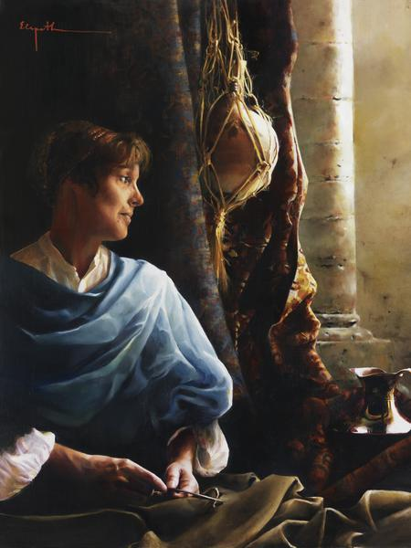 Forsaking All - 6 x 8 giclée on canvas (pre-mounted) by Elspeth Young