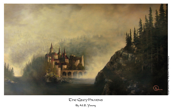 The Grey Havens - 11 x 17 print by Al Young