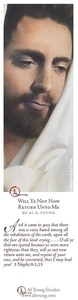 Will Ye Not Now Return Unto Me - Bookmark by Al Young