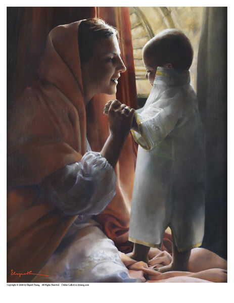 For This Child I Prayed - 8 x 10 print by Elspeth Young
