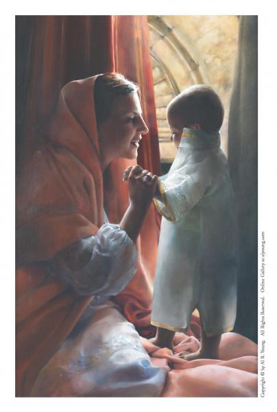 For This Child I Prayed - 4 x 6.25 print by Elspeth Young