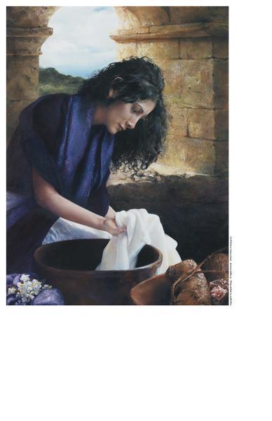 She Worketh Willingly With Her Hands - 9 x 12 print by Elspeth Young