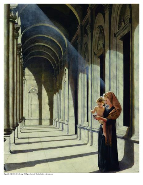 The Windows Of Heaven - 8 x 10 print by Al Young