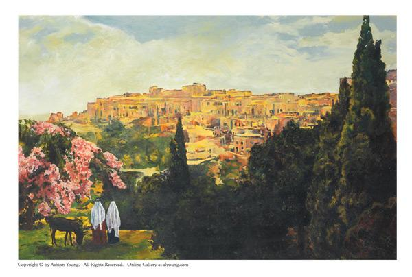 Unto The City Of David - 4 x 6.25 print by Ashton Young