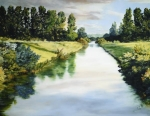 Peace Like A River - 14 x 18 giclée on canvas (pre-mounted)