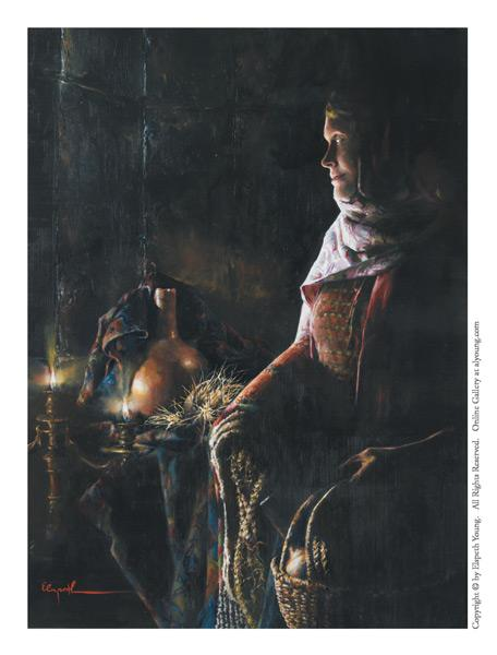 A Lamp Unto My Feet - 4 x 5.5 print by Elspeth Young