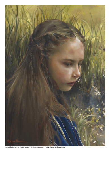 By The River's Brink - 5 x 7 print by Elspeth Young