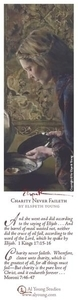 Charity Never Faileth - Bookmark by Elspeth Young