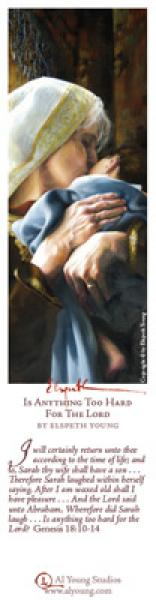 Is Anything Too Hard For The Lord - Bookmark by Elspeth Young