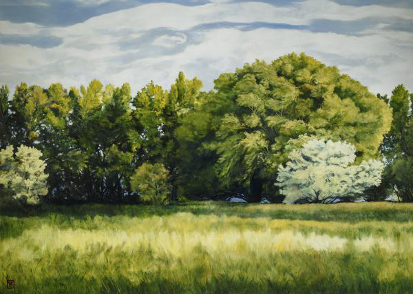 Green And Pleasant Land - 5 x 7 print by Ashton Young