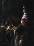 A Lamp Unto My Feet - 24 x 32 giclée on canvas (unmounted)