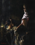 A Lamp Unto My Feet - 11 x 14 giclée on canvas (pre-mounted)