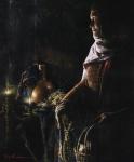 A Lamp Unto My Feet - 20 x 24 giclée on canvas (unmounted)