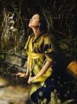 God Liveth And Seeth Me - 16 x 21.5 giclée on canvas (pre-mounted)