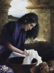 She Worketh Willingly With Her Hands - 9 x 12 giclée on canvas (pre-mounted)