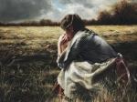 As A Sparrow Alone - 30 x 40 giclée on canvas (unmounted)