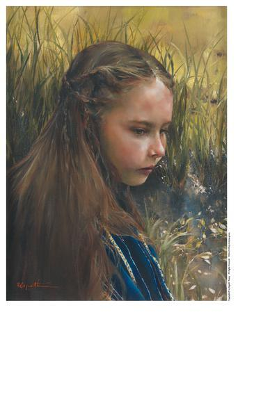 By The River's Brink - 9 x 12 print by Elspeth Young