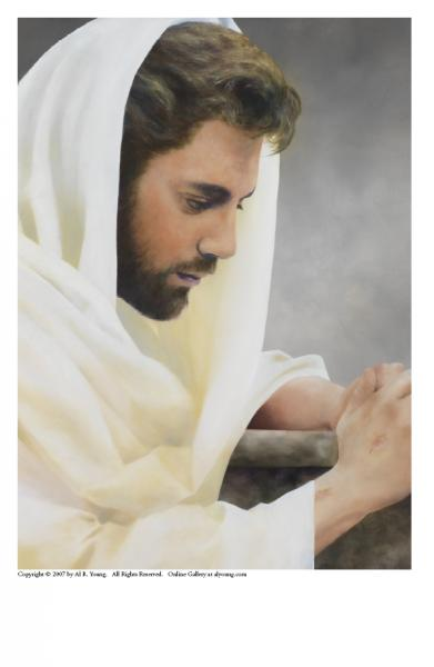 We Heard Him Pray For Us - 5 x 7 print by Al Young