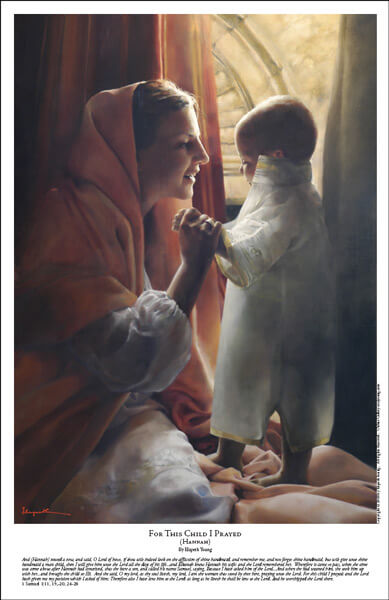 For This Child I Prayed - 11 x 17 print by Elspeth Young