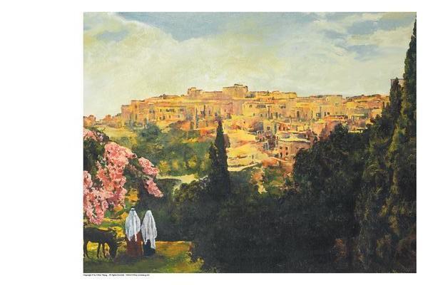 Unto The City Of David - 11 x 14 print by Ashton Young