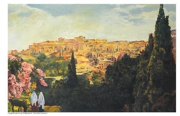 Unto The City Of David - 11 x 17 print by Ashton Young