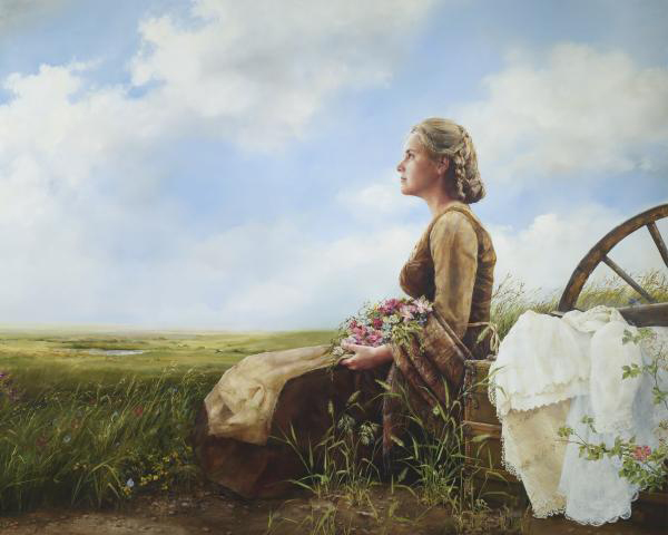 If God So Clothe The Field - 8 x 10 print by Elspeth Young