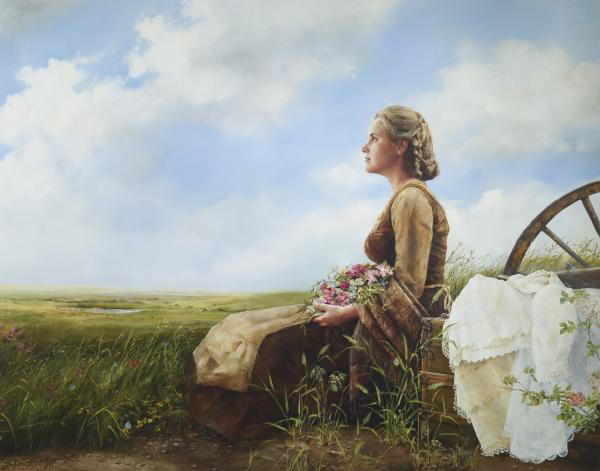 If God So Clothe The Field - 11 x 14 print by Elspeth Young