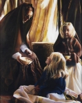 The Daughters Of Zelophehad - 16 x 20 giclée on canvas (pre-mounted)