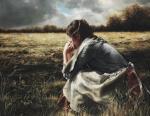 As A Sparrow Alone - 6 x 7 giclée on canvas (pre-mounted)