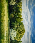 Green And Pleasant Land - 6 x 7.5 giclée on canvas (pre-mounted)
