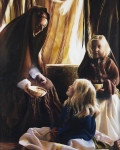 The Daughters Of Zelophehad - 24 x 30 giclée on canvas (unmounted)
