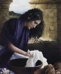 She Worketh Willingly With Her Hands - 20 x 24 giclée on canvas (unmounted)