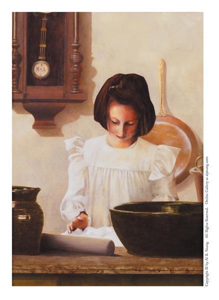 Sara Crewe - 4 x 5.75 print by Al Young