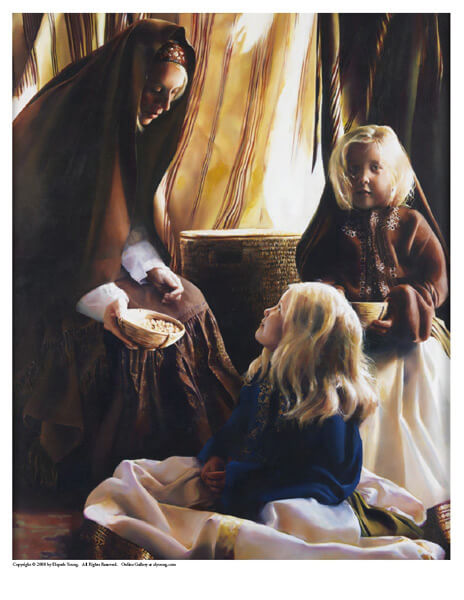 The Daughters Of Zelophehad - 8 x 10 print by Elspeth Young