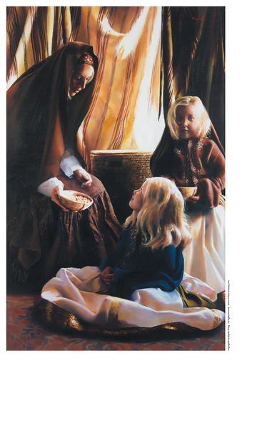 The Daughters Of Zelophehad - 9 x 13.75 print by Elspeth Young